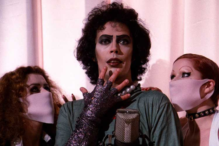 Tim Curry stars as Dr. Frank-N-Furter in The Rocky Horror Picture Show.