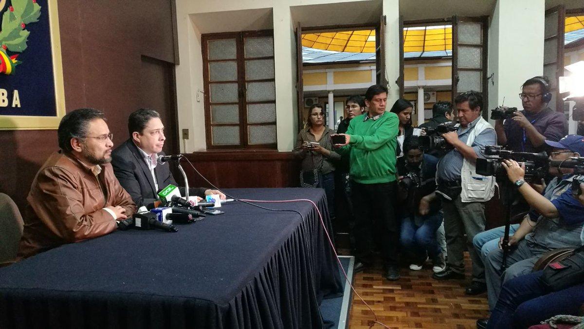 Ministros reunidos con dirigentes de Chuquisaca en Cochabamba / BTV