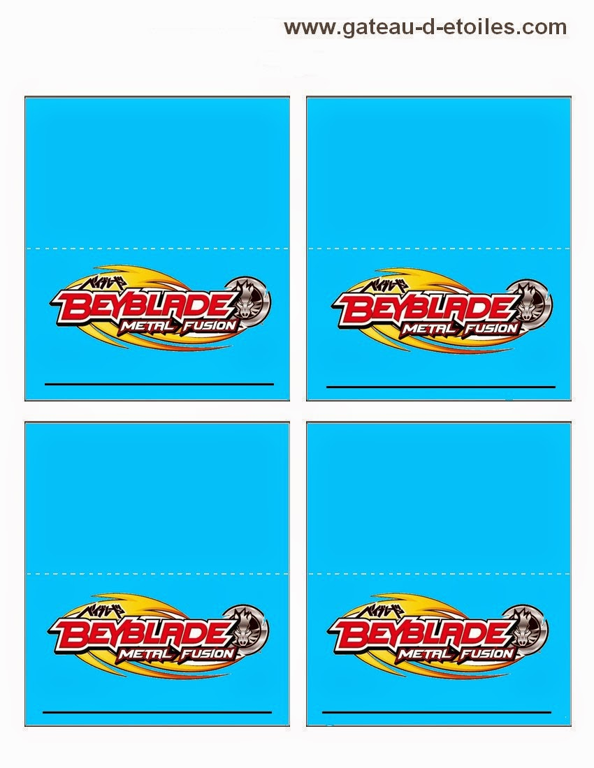 Beyblade Free Printable Labels.