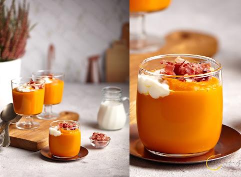 Rozgrzewająca zupa- krem z dyni i imbirem