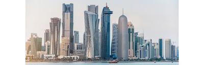 Source: Qatar Airways. Doha skyline.