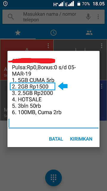 paket kuota tri 2GB 1500