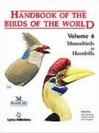 Handbook of the Birds of the World volume 6 Mousebirds to Hornbills