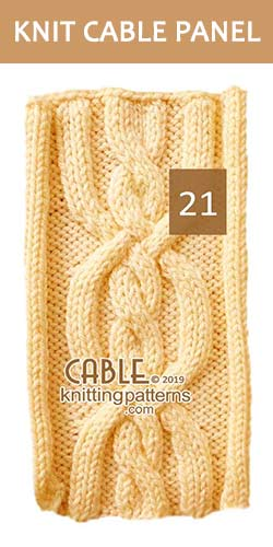 Knitted Cable Panel Pattern 21