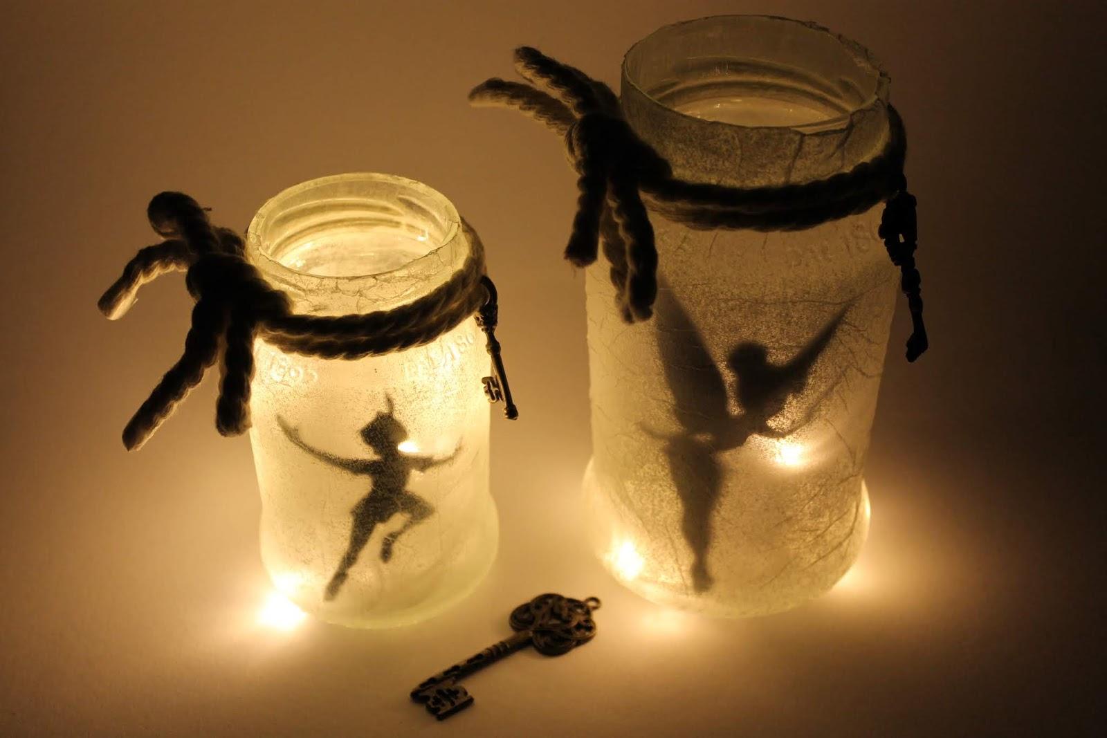 DIY Feenglas Tinkerbell  Peter Pan ganz einfach selber machen