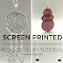 Translucent Screen Printed Resin Jewelry Tutorial