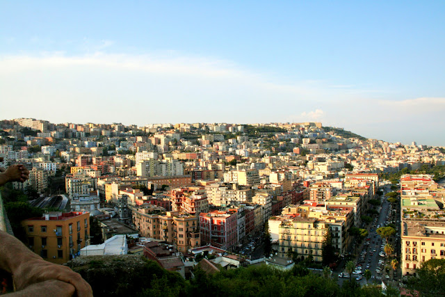 cielo, città, palazzi, strade, panorama, Napoli Mergellina