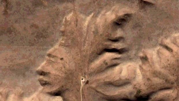 Badlands Guardian, Wajah Manusia di Bebatuan