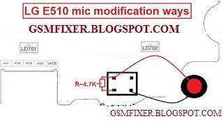 Lg E510 Mic Problem Jumper Solution | gsmfixer