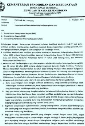 Pengumuman Kemdikbud Linearitas Guru Tahun 2020 Harus Sudah Linier Jika Tidak Terancam Resiko