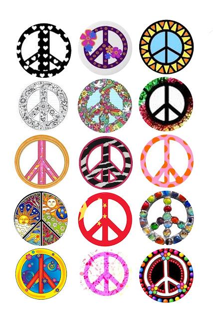 Símbolos de Paz y Amor con Diferentes Rellenos.