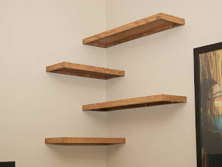many options are available from true floating shelves to less expensive floating shelf options as well as shelves with builtin lights or shelves that