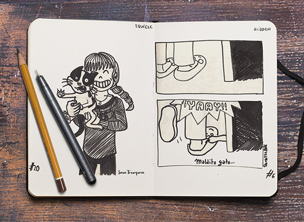 comic gatos Inktober 2016 por Pegotiblog - Sara Torregrosa - Illustration comic ilustración