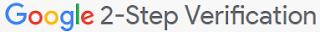 google 2 step verification