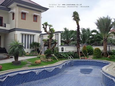 Jasa pembuatan taman klasik tropis surabaya | Tukang taman surabaya barat | www.jasataman.co.id