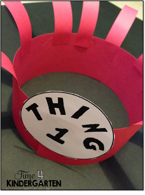 Make a Dr. Seuss Thing 1 and Thing 2 hat with this Free download template.  Great for Crazy Hat Day, This fun Dr. Seuss hat is fquick and easy to make.