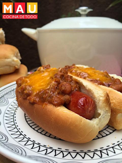 chili dogs beans con carne delicioso para piñata los mejores estilo monterrey