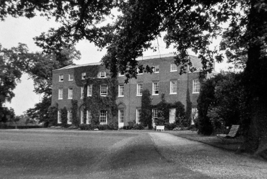 Fig.6. Photograph of the garden front 1933 (By courtesy of Lady Stourton)