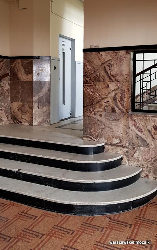 Warszawa Warsaw warszawskie ulice Wkamienica Juliana Glassa Jerzy Gelbard Roman Sigalin architektura wykusze marmur lata 30 przedwojenna kamienica