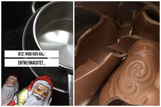 Schoko Crossies aus alten Schoko Weihnachtsmaennern Nikolaus Schoko Osterhasen Jules kleines Freudenhaus