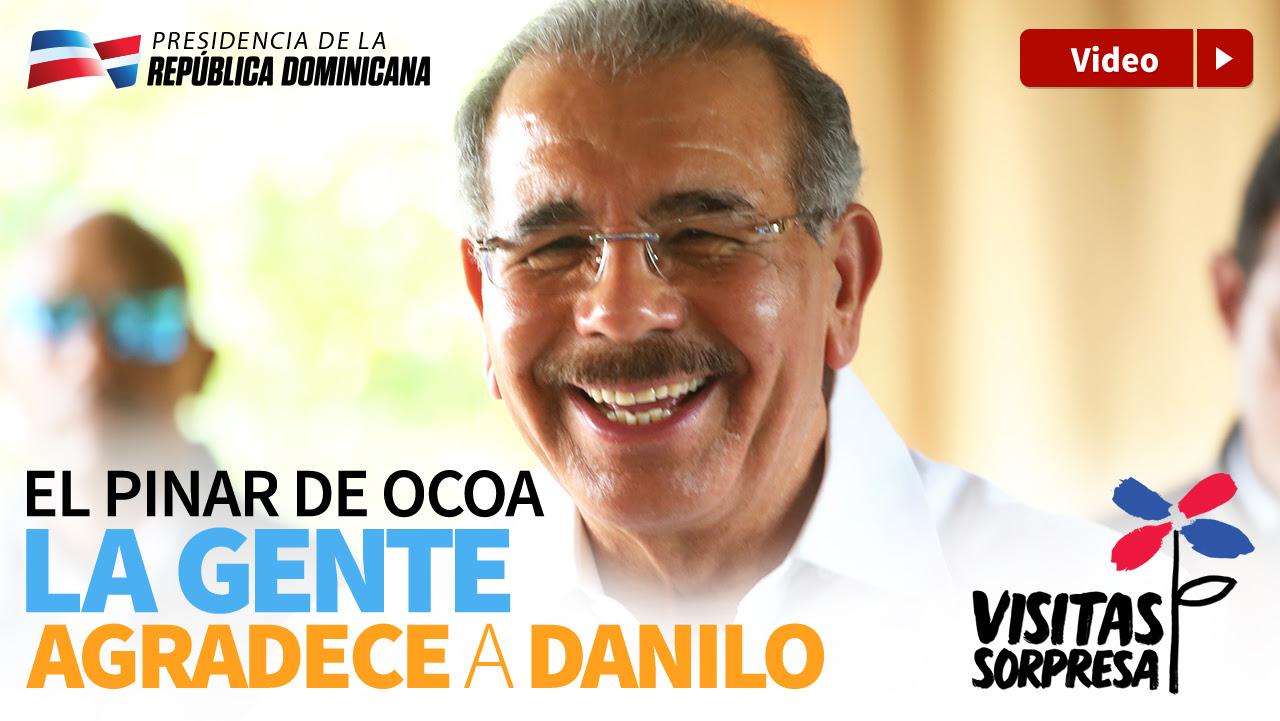 VIDEO: El Pinar de Ocoa. La gente agradece a Danilo