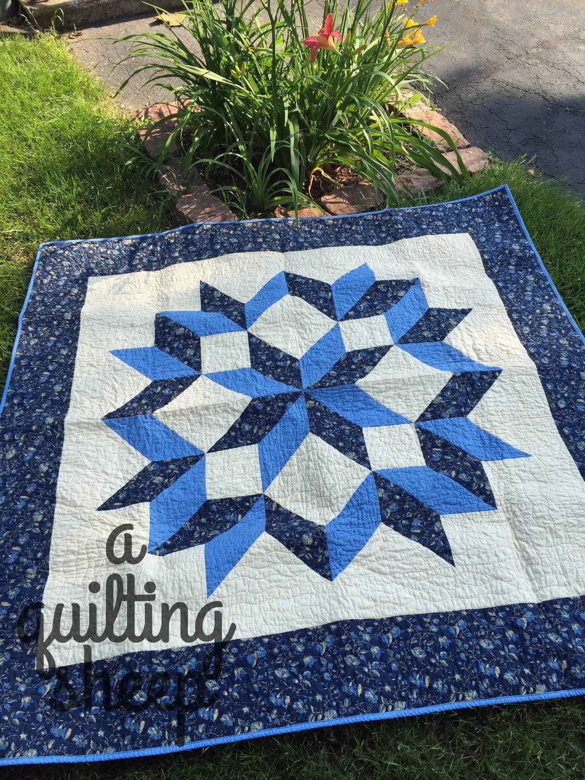 A Quilting Sheep Carpenter Star Quilt