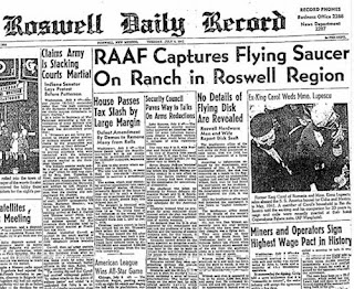 Pentagon ufo disclosure is the beginning of a new deception after 70 years of lying of swamp gas and weather balloons  Roswell-Daily-Record-July-8-1947