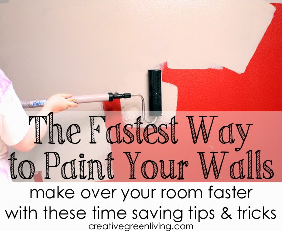 The fastest way to paint your walls - make over your room faster with these time saving tips and tricks
