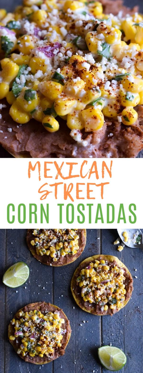 MEXICAN STREET CORN TOSTADAS #mexican #corn #tostadas