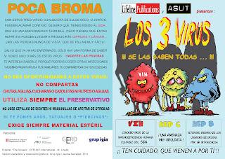"""Los 3 Virus"" : Material de prevenció de malalties infeccioses"