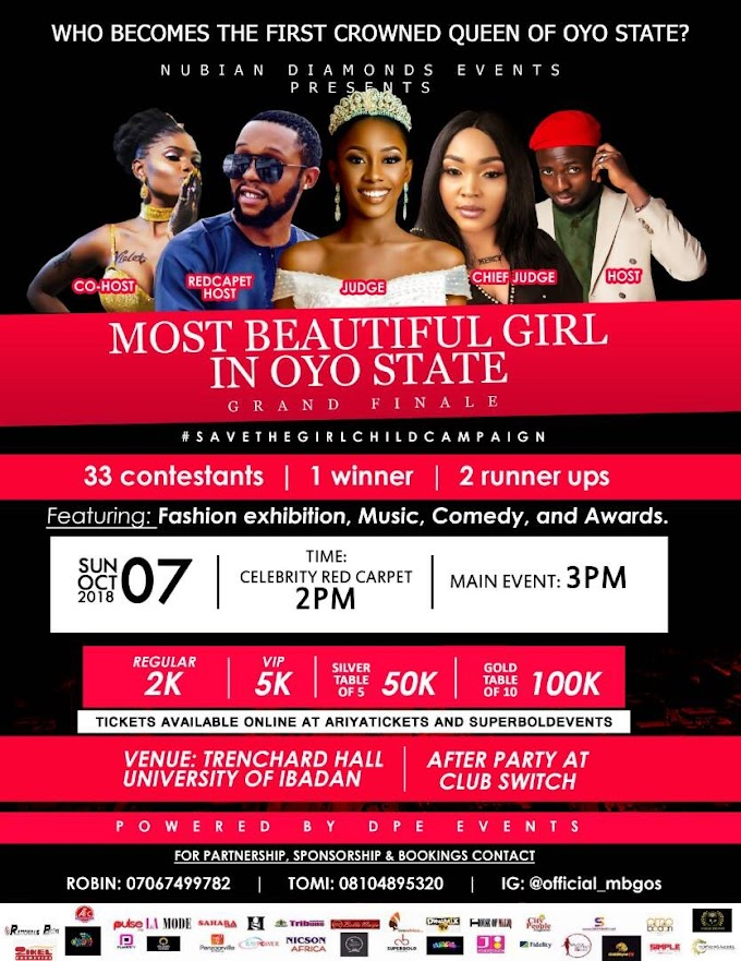 OYO STATE IS READY TO HAVE HER OWN FIRST CROWNED BEAUTY QUEEN.