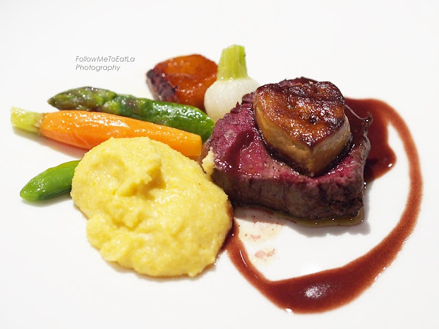 Wagyu Beef Medallion, Pumpkin with a hint of Xeres Vinegar, Duck Foie Gras & Thyme Juice