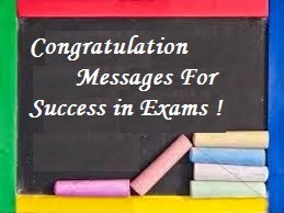Congratulation Messages Success In Exams