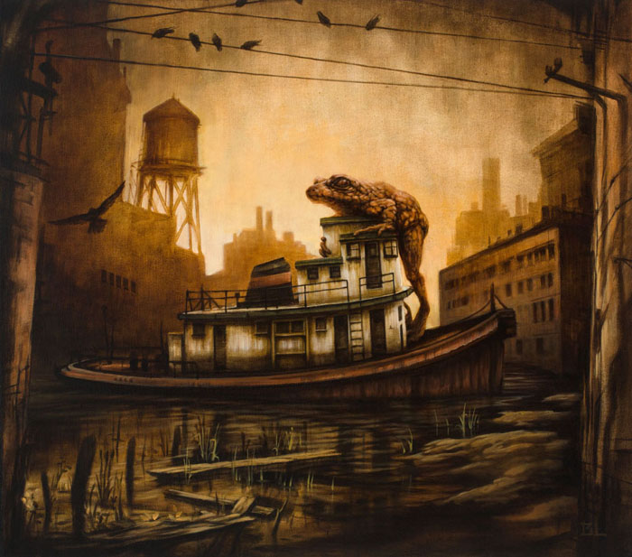 12-The-Harbormaster-Brin-Levinson-Paintings-of-Nature-Reclaiming-Cities-www-designstack-co