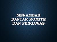 Menambah Daftar Komite dan Pengawas di Aplikasi PMP
