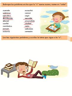 """Respuestas Apoyo Primaria Español 2do grado Bloque 2 lección 6 ¿Cómo suena la """"c""""?"""