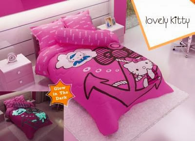Ideal Sprei bedcover kintakun youth glow in the dark