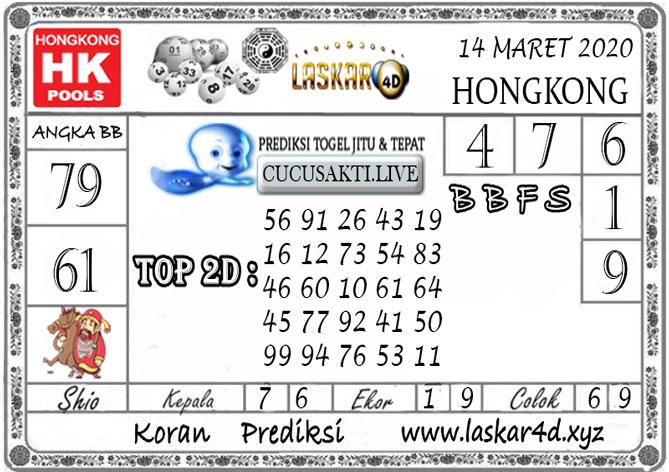 Prediksi Togel HONGKONG LASKAR4D 14 MARET 2020