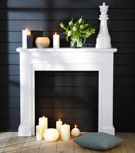 15 id es d coration pour votre chemin e blog d co. Black Bedroom Furniture Sets. Home Design Ideas
