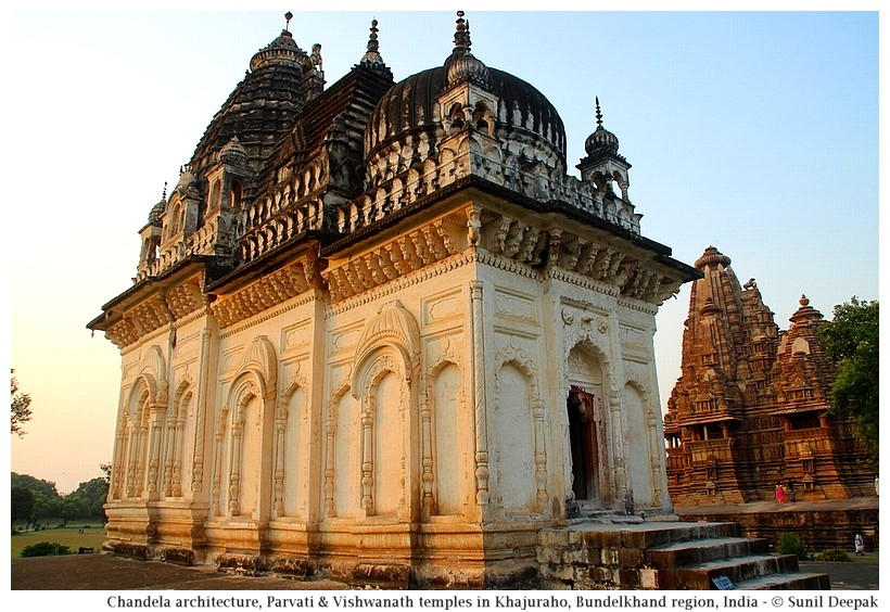 Parvati & Vishwanath temples, Khajuraho, Bundelkhand region, central India - Images by Sunil Deepak