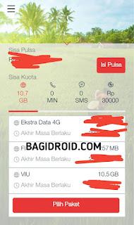 Aplikasi my telkomsel setelah di download dan di instal di android