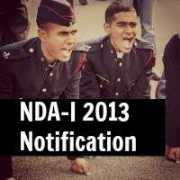 NDA (I) 2013 Notification By UPSC