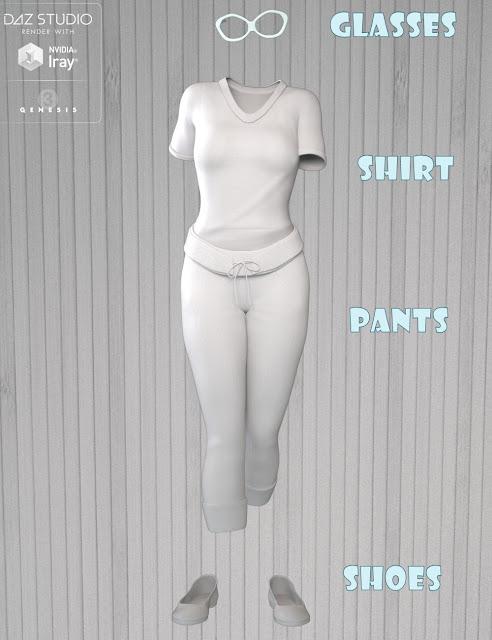 Streetwear for Genesis 3 Female