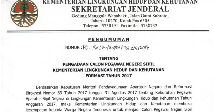 LHK - Soal dan Pendaftaran CPNS Kementerian Lingkungan