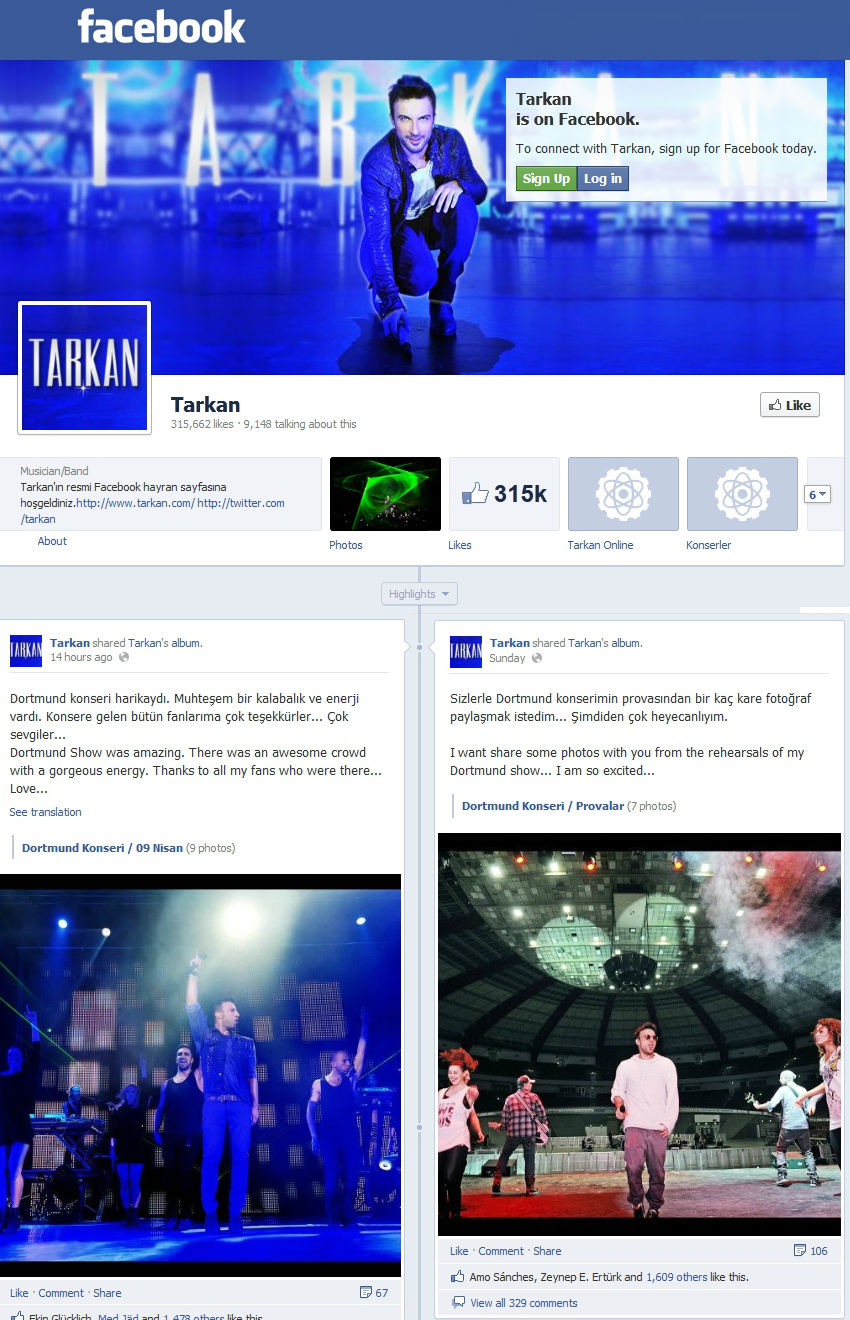 Facebook Dortmund Tarkan Translations Tarkan At Turka Fest In Dortmund