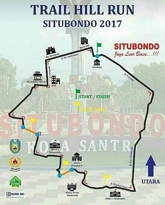 Rute Situbondo Trail Hill Run • 2017