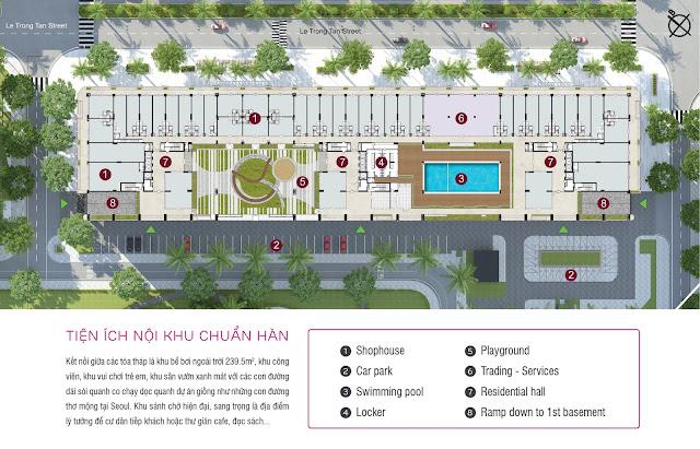 Mặt bằng nội khu dự án The K - Park
