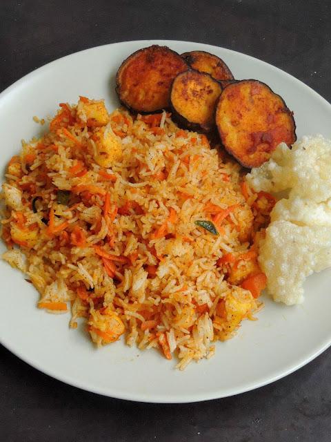 carrot paneer rice,Paneer Carrot Rice