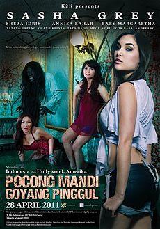 Poster Film Pocong Mandi Goyang Pinggul