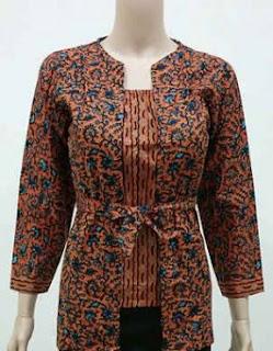 Kumpulan Model Baju Batik Kerja Guru Lengan Panjang